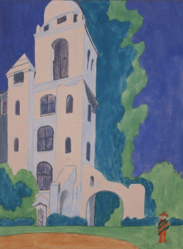 Lucile Newton California - Santa Fe Drawing c1910s - 2
