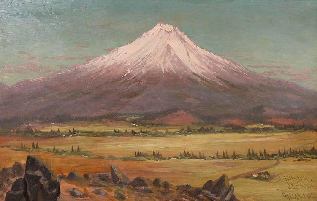 James Everett Stuart Mt Shasta Painting 1882