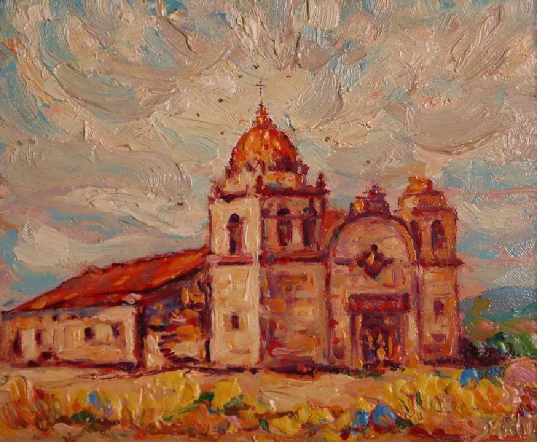 John Henry Ramm Painting - Carmel Mission (CA)