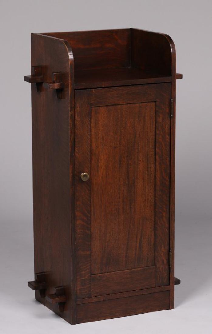 Roycroft (attributed) One-door Music Cabinet 1905