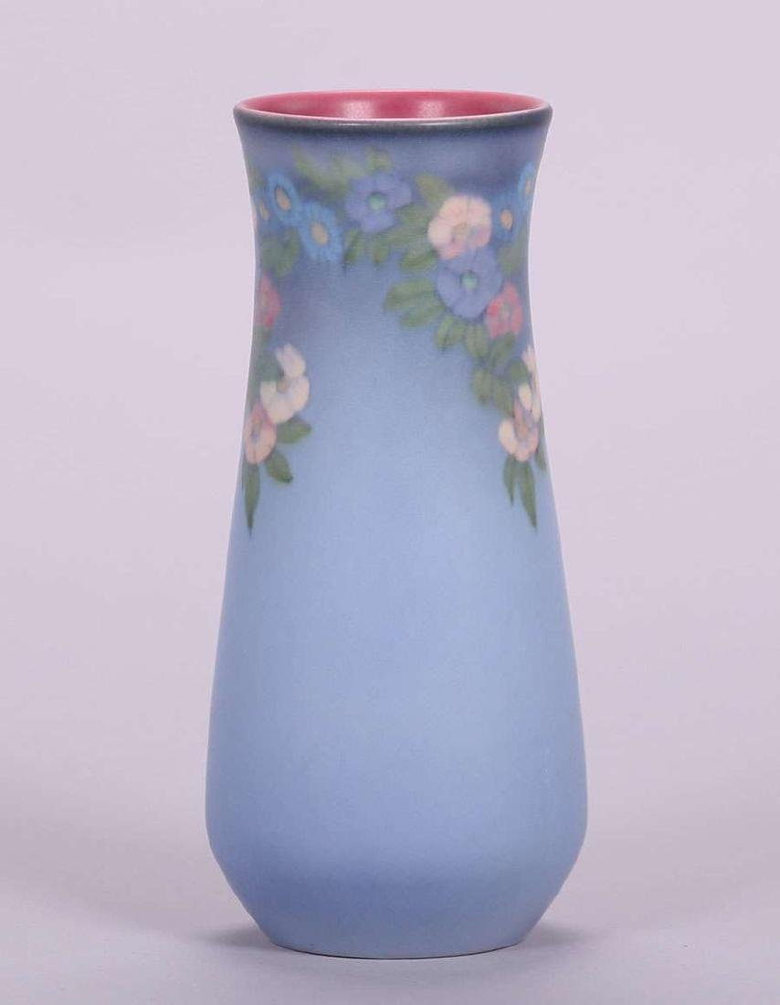 Rookwood  Floral Vellum Vase Decorated by Lenore Asbury
