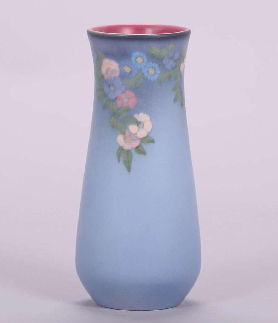 Rookwood  Floral Vellum Vase Decorated by Lenore Asbury - 2