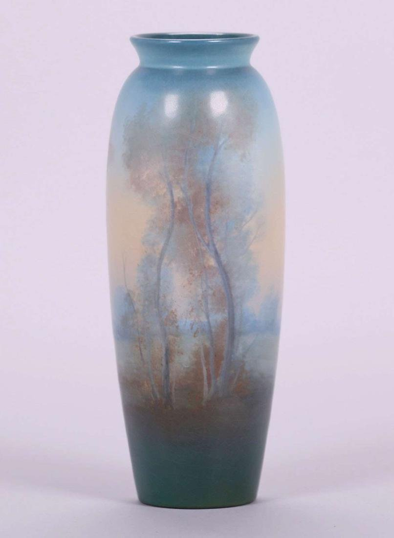 Rookwood Scenic Vellum Vase by Ed Diers Dated 1921