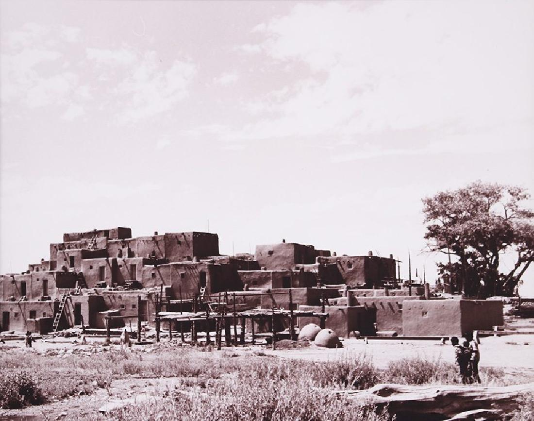 Vintage Photo of Taos Pueblo c1965