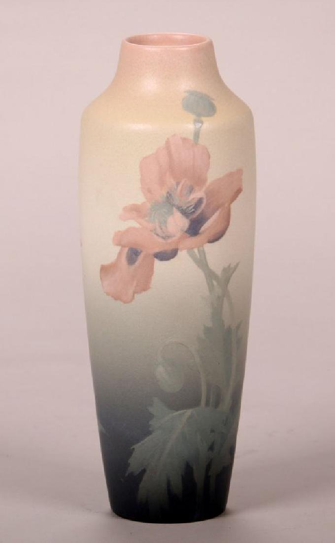 Rookwood Floral Vellum Vase by Lenore Asbury, 1905