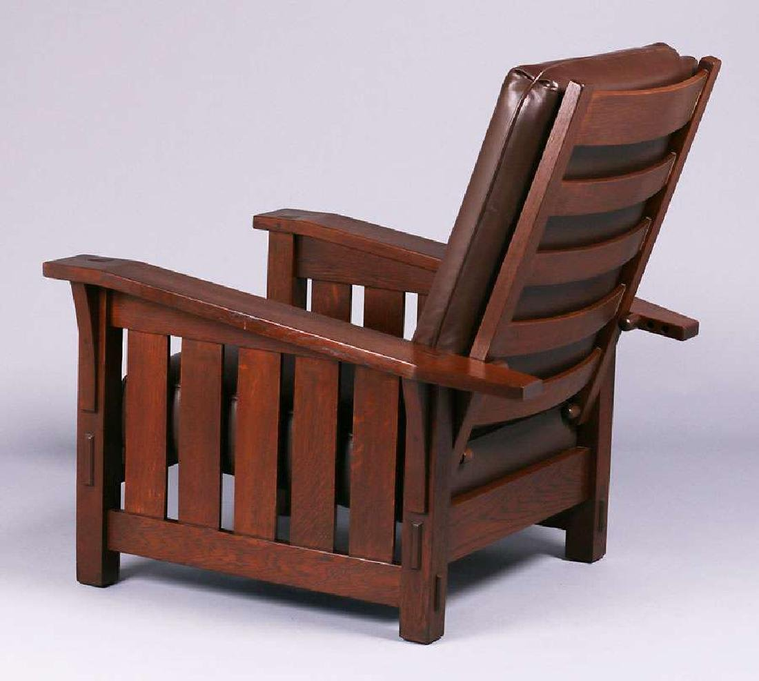 Gustav Stickley #369 Bent-Am Morris Chair - 2