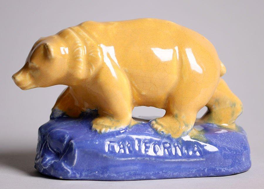 Rare Walrich Pottery California Bear c1920s