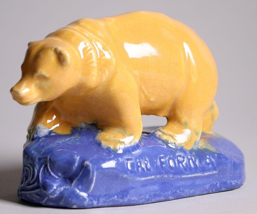 Rare Walrich Pottery California Bear c1920s - 2