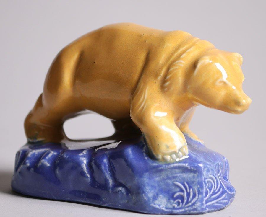 Rare Walrich Pottery California Bear c1920s - 3