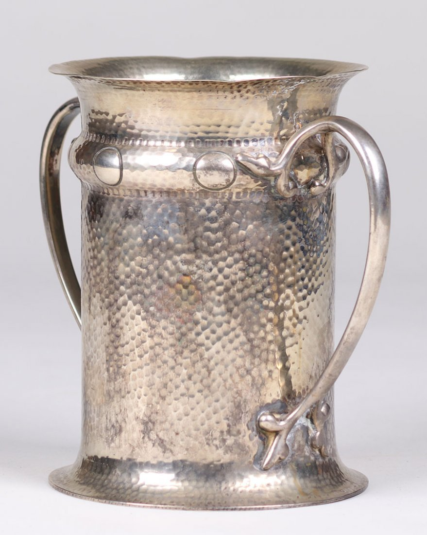 Arts & Crafts 2-Handled Silver Plated Vase c1910 - 2