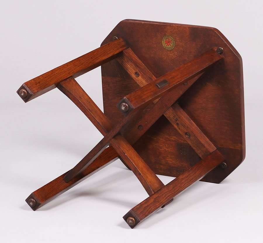 L&JG Stickley Square Clip-Corner Taboret c1917 - 2