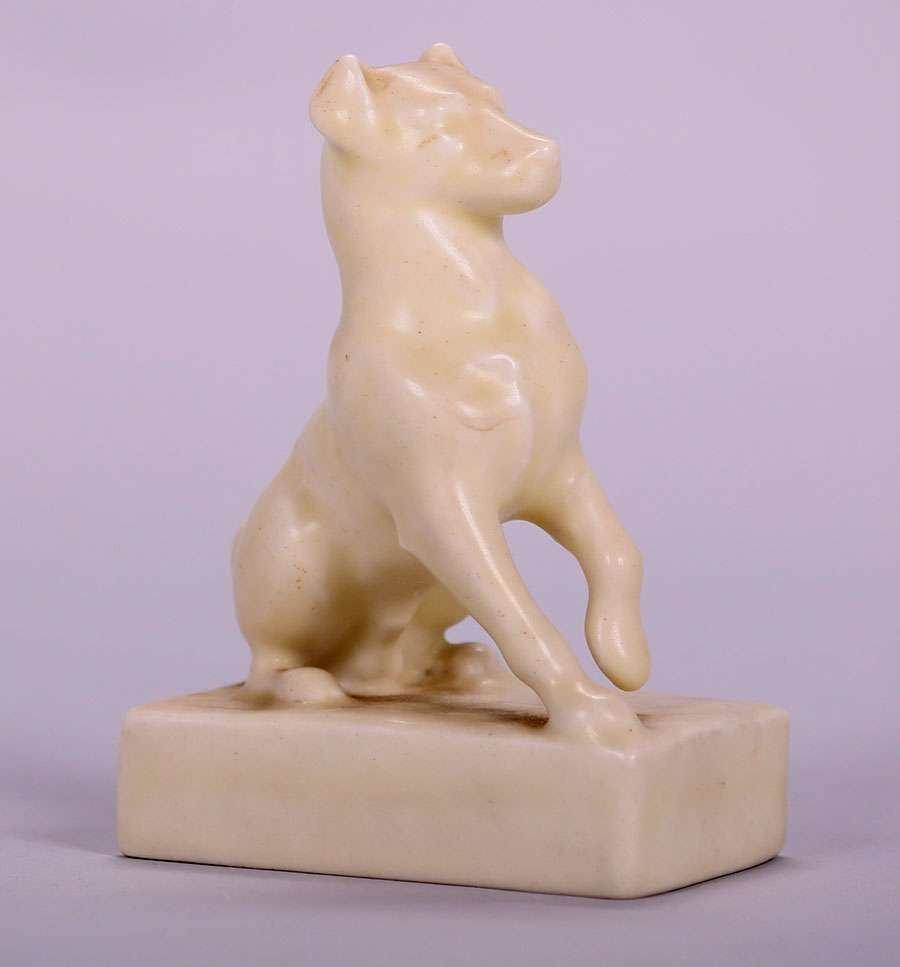 Rookwood Dog Paperweight 1930