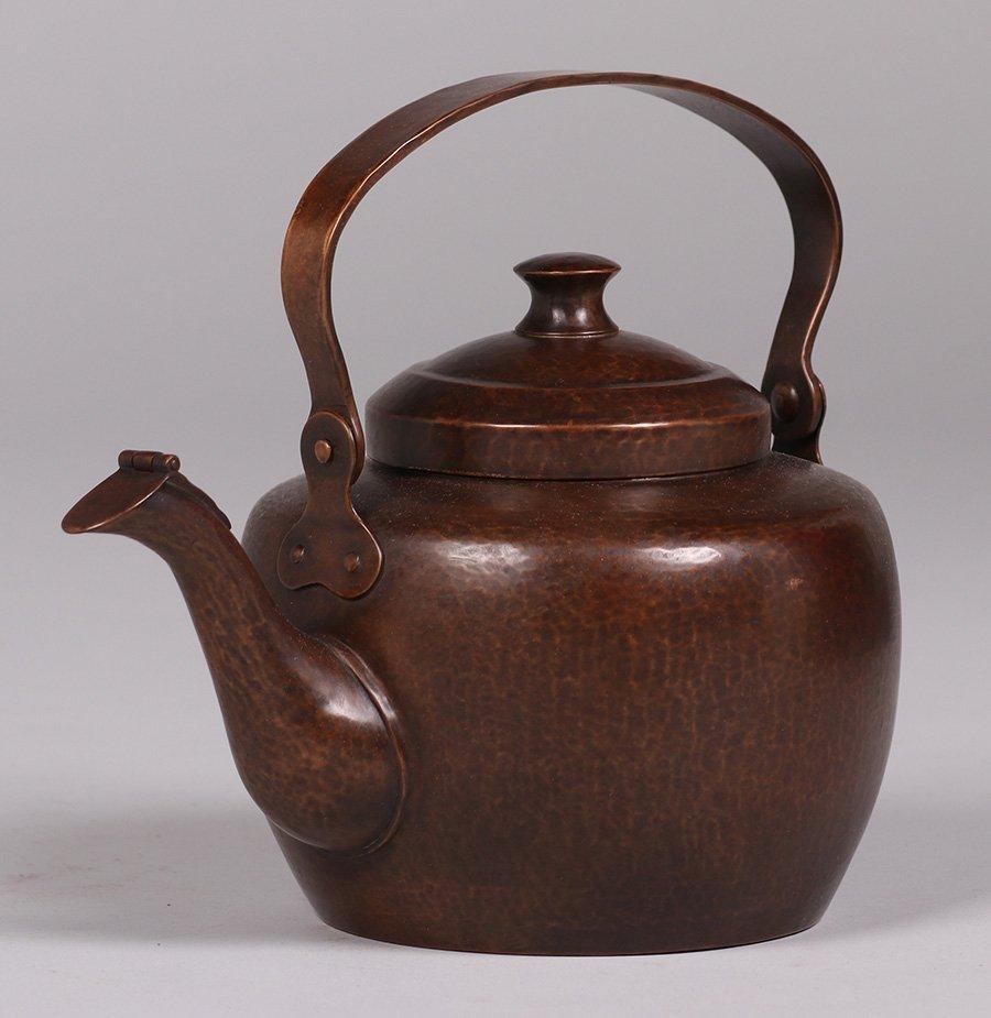 Dirk van Erp Hammered Copper Teapot c1915-1920