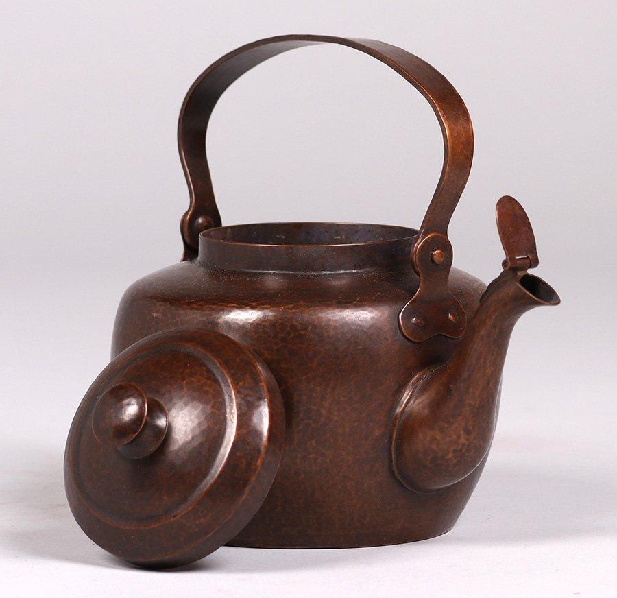 Dirk van Erp Hammered Copper Teapot c1915-1920 - 2