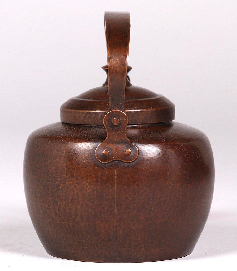 Dirk van Erp Hammered Copper Teapot c1915-1920 - 4