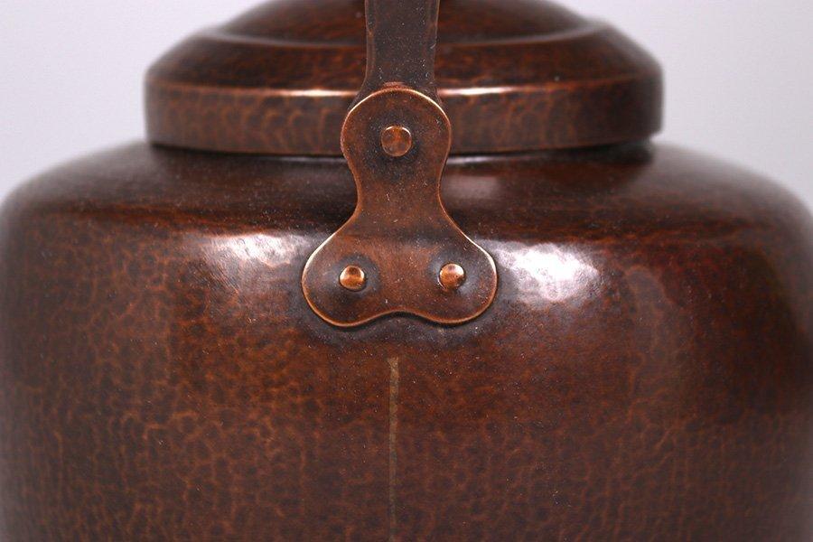 Dirk van Erp Hammered Copper Teapot c1915-1920 - 5