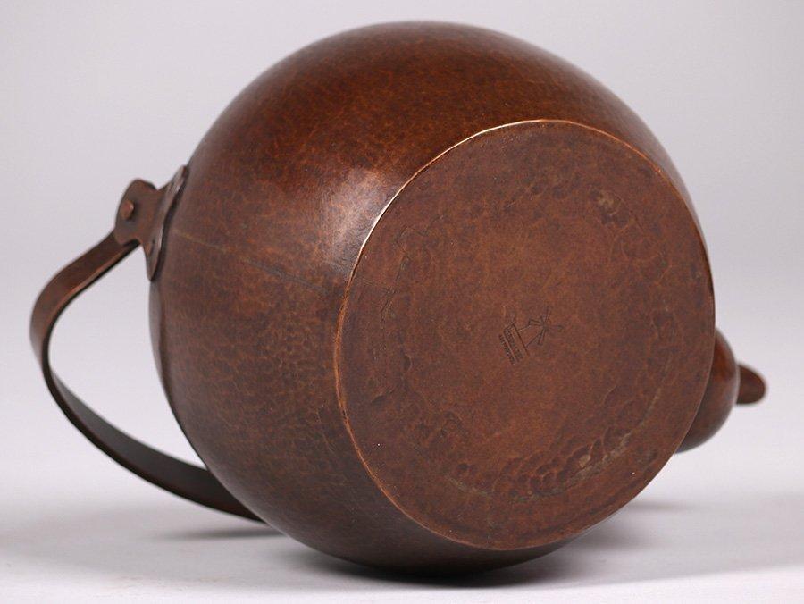 Dirk van Erp Hammered Copper Teapot c1915-1920 - 6
