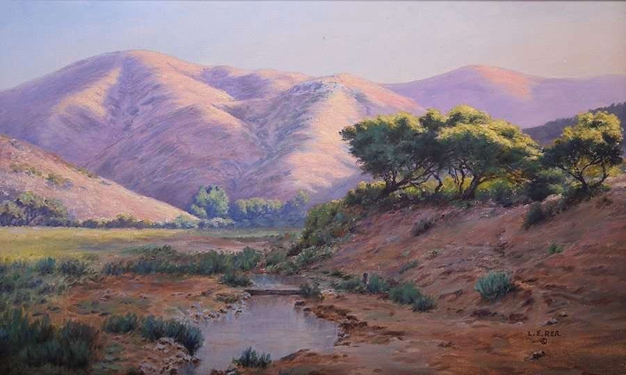 Louis Edward Rea Painting Marin County, California 1923