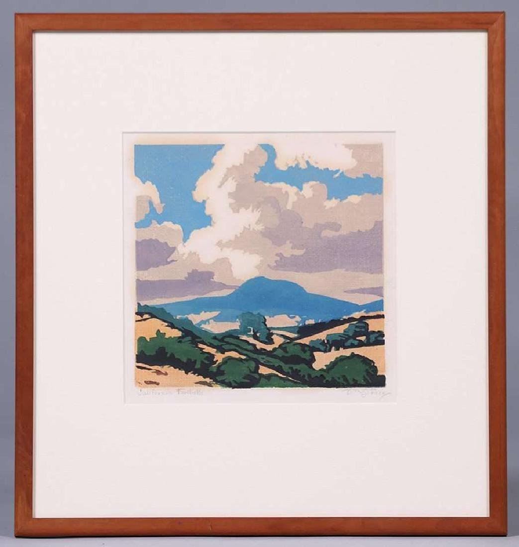 William Rice (1873-1963) Woodblock - Mt Tamalpais c1920 - 2