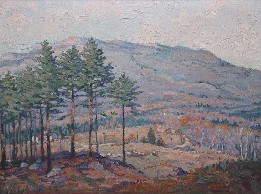 Carl Lindstrom Impressionist Painting - Worchester, MA