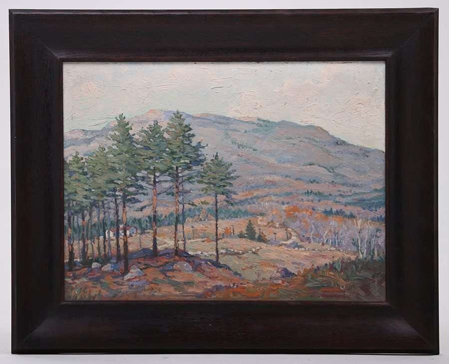 Carl Lindstrom Impressionist Painting - Worchester, MA - 2