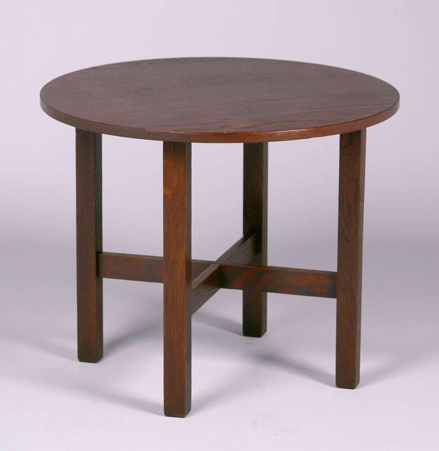 """Gustav Stickley 24""""d Child's Table c1907-1910"""