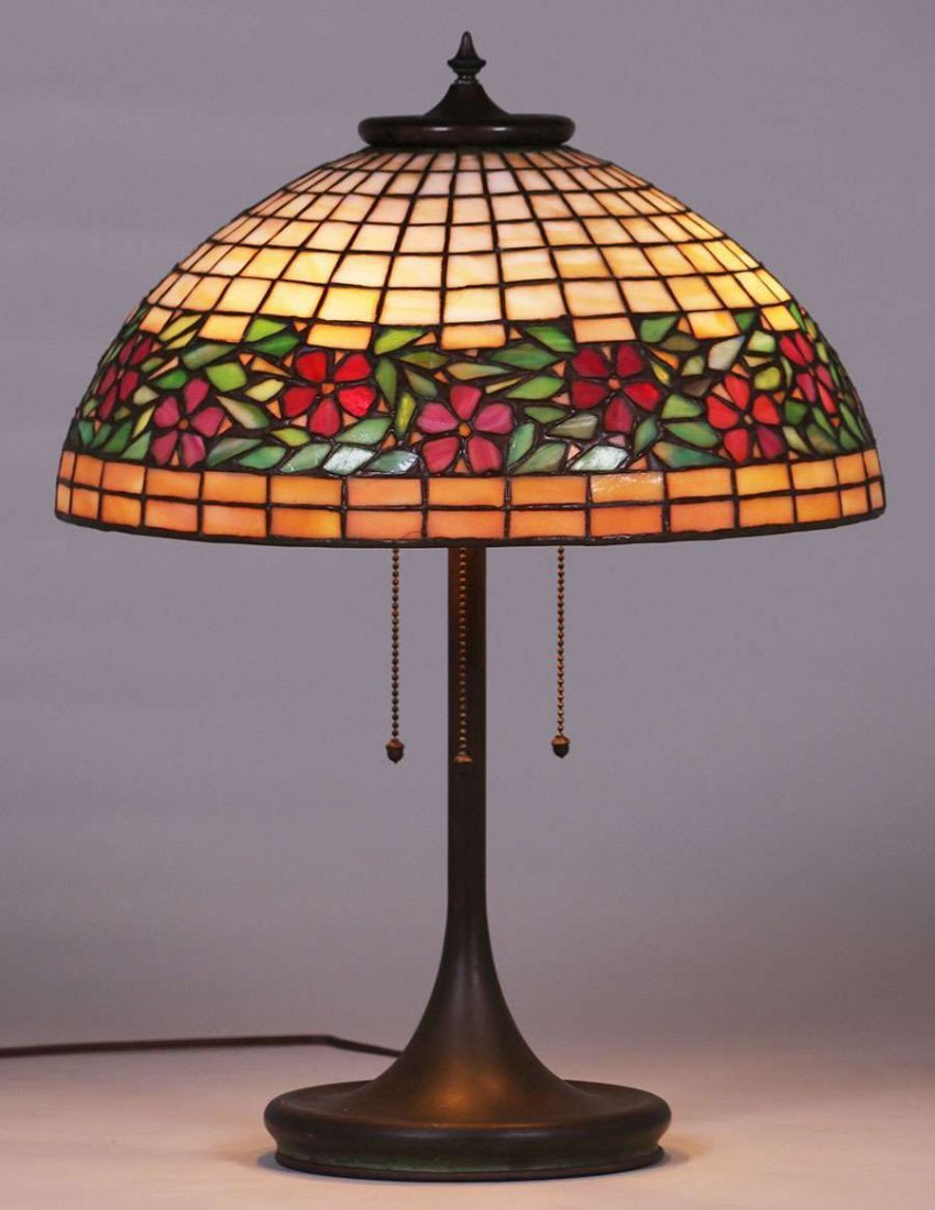 Unique Leaded Glass and Metal Co Lamp c1903-1910