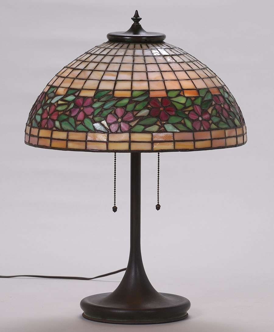 Unique Leaded Glass and Metal Co Lamp c1903-1910 - 2