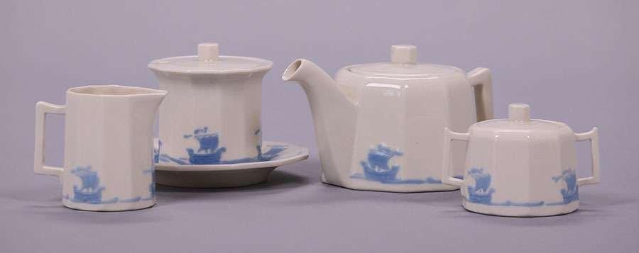 Rookwood Blue Galleon Tea Set - 2