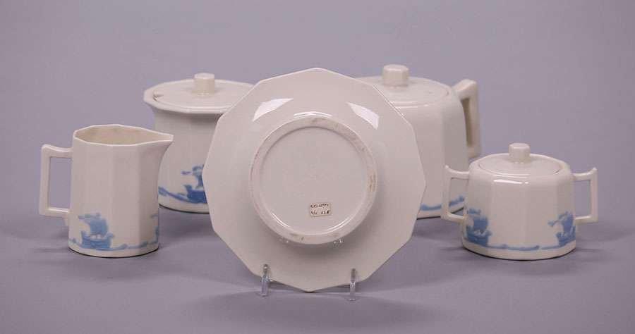 Rookwood Blue Galleon Tea Set - 4