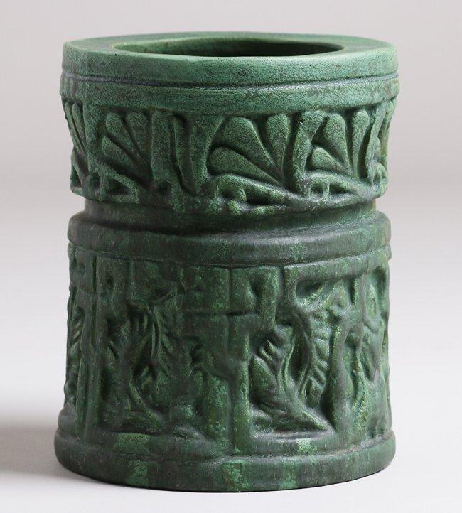 Wheatley Pottery Matte Green Cylinder Vase