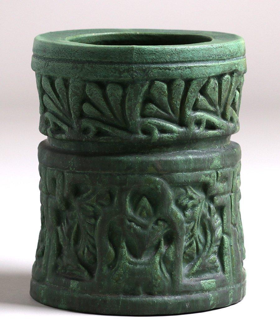 Wheatley Pottery Matte Green Cylinder Vase - 2