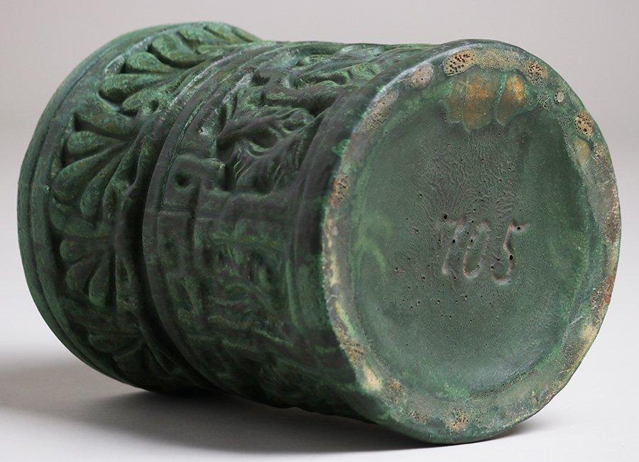 Wheatley Pottery Matte Green Cylinder Vase - 3