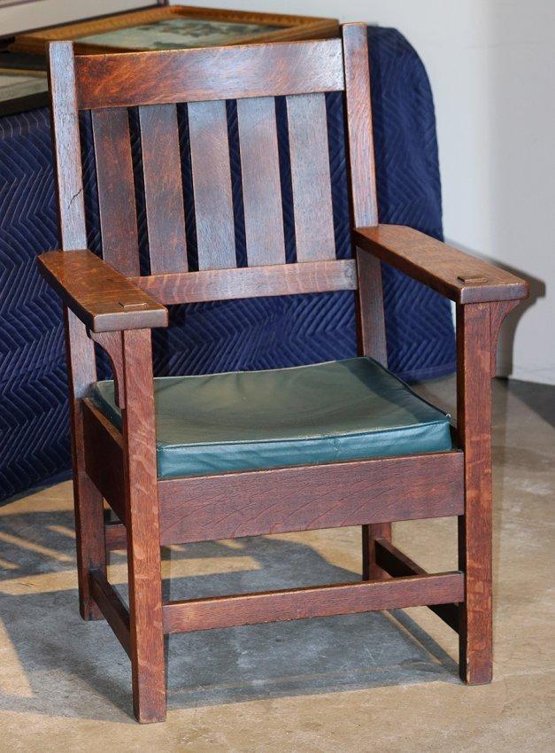 Gustav Stickley #2626 Armchair c1902-1903