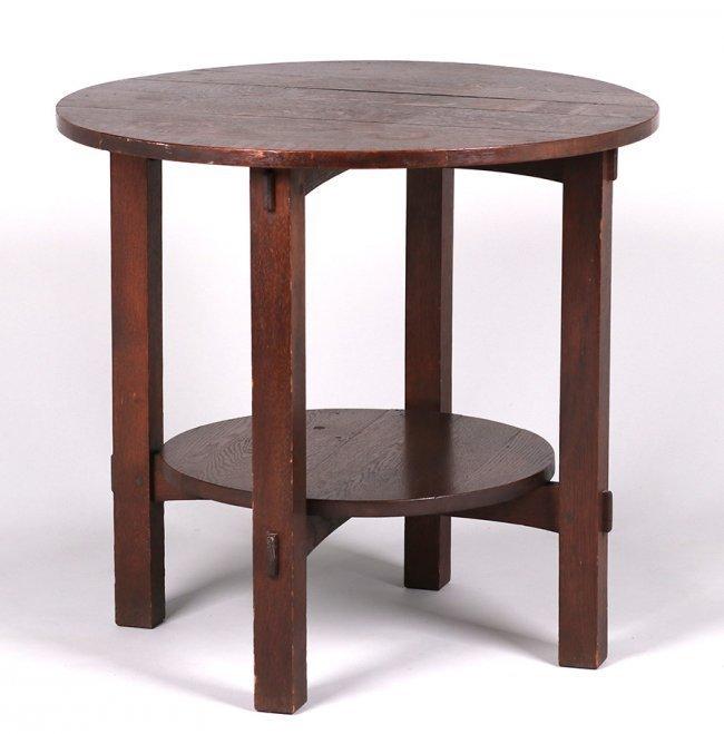 L&JG Stickley Onondaga Shops Lamp Table c1902-1904