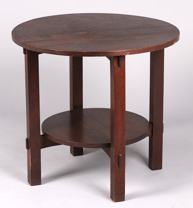 L&JG Stickley Onondaga Shops Lamp Table c1902-1904 - 2