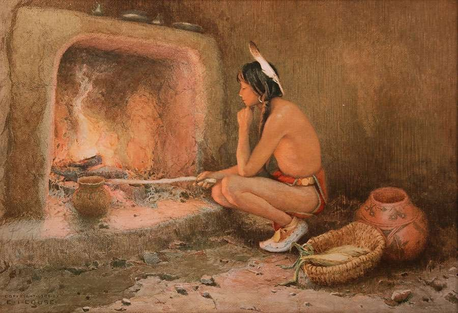 Eanger Irving Couse Chromolithograph Taos Indian c1904