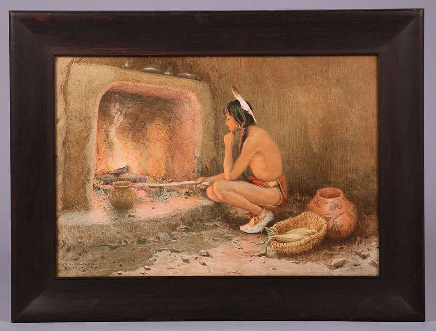 Eanger Irving Couse Chromolithograph Taos Indian c1904 - 2