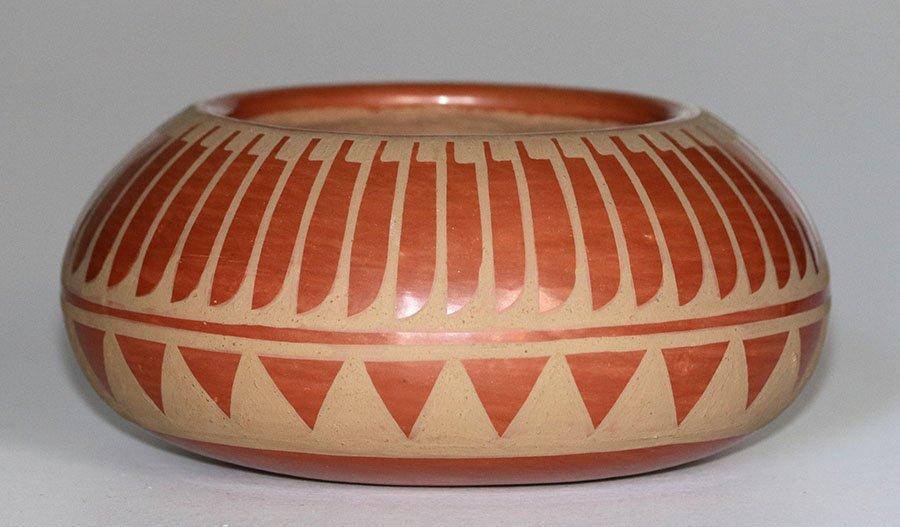 San Ildefonso Pueblo Bowl Signed Blue Corn