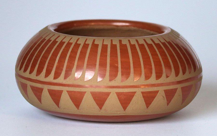 San Ildefonso Pueblo Bowl Signed Blue Corn - 2