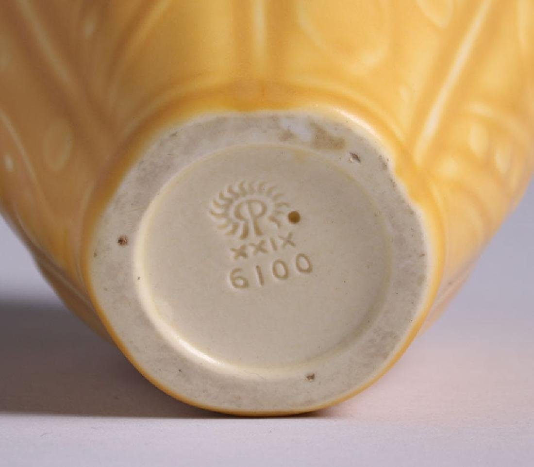 Rookwood Matte Yellow Vase 1929 - 4