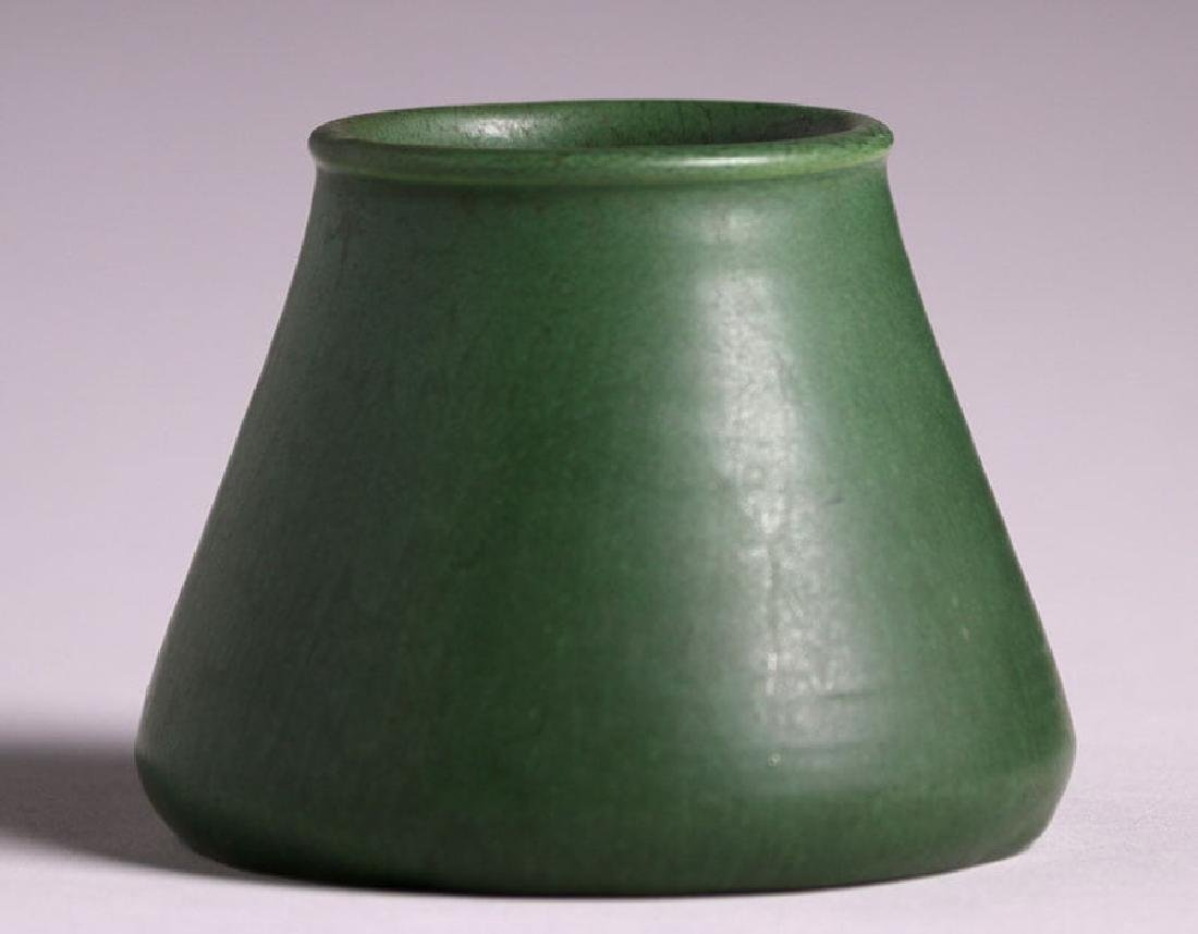 Hampshire Pottery Matte Green Tapered Vase