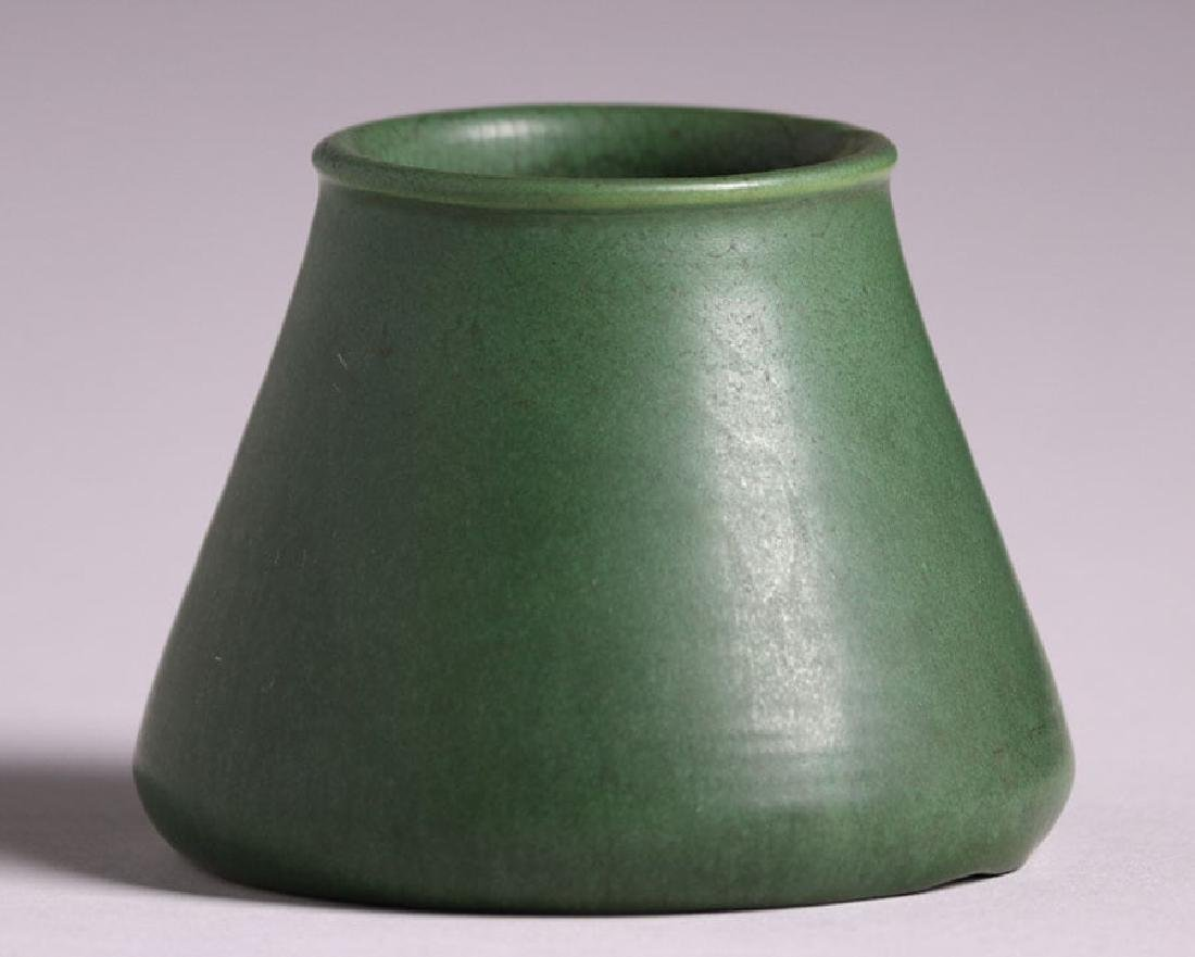 Hampshire Pottery Matte Green Tapered Vase - 2
