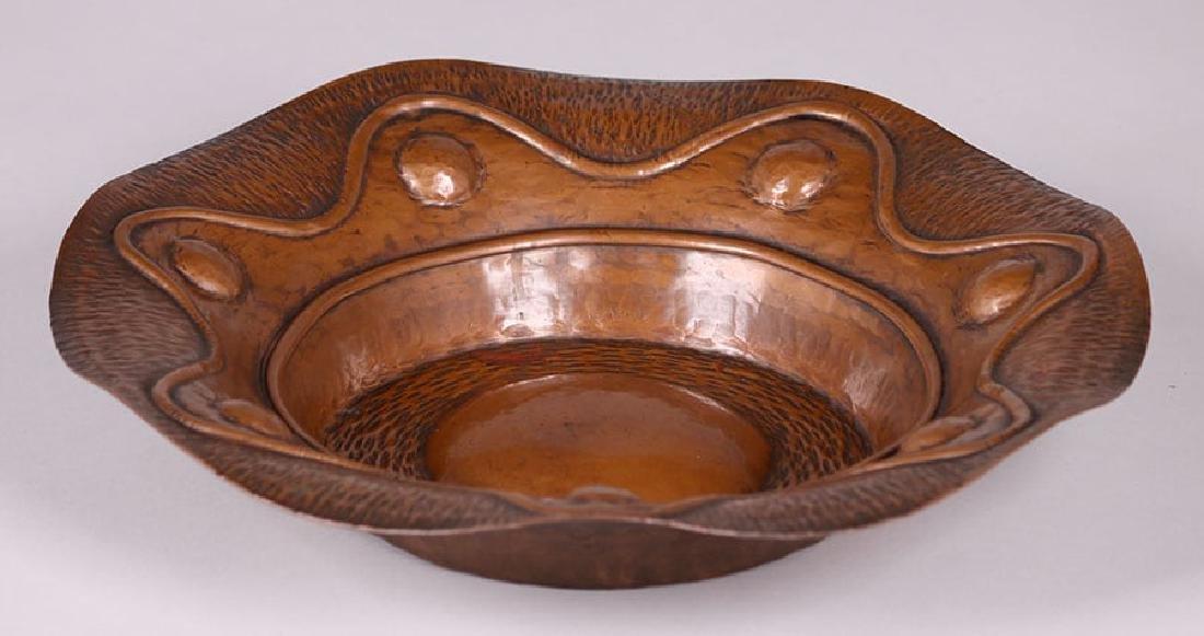 Arts & Crafts Hammered Copper Plaque c1910 - 2