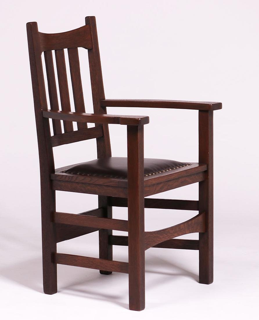 Set of 6 Stickley Brothers #379 1/2 Dining Chairs c1910 - 3