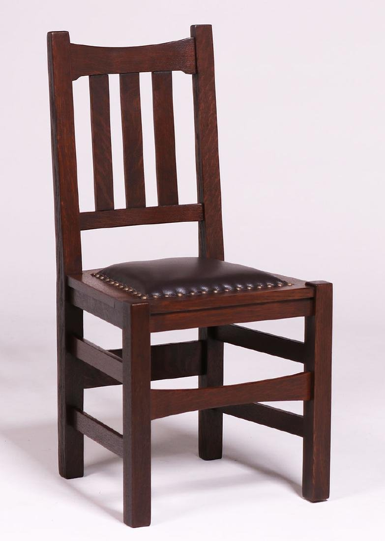 Set of 6 Stickley Brothers #379 1/2 Dining Chairs c1910 - 4