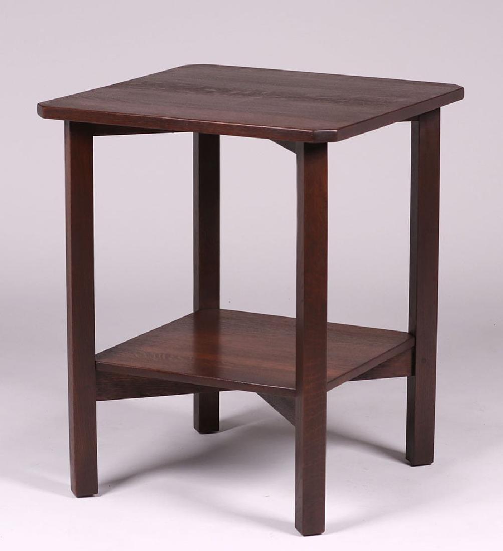 Gustav Stickley Clip-Corner Lamp Table c1910