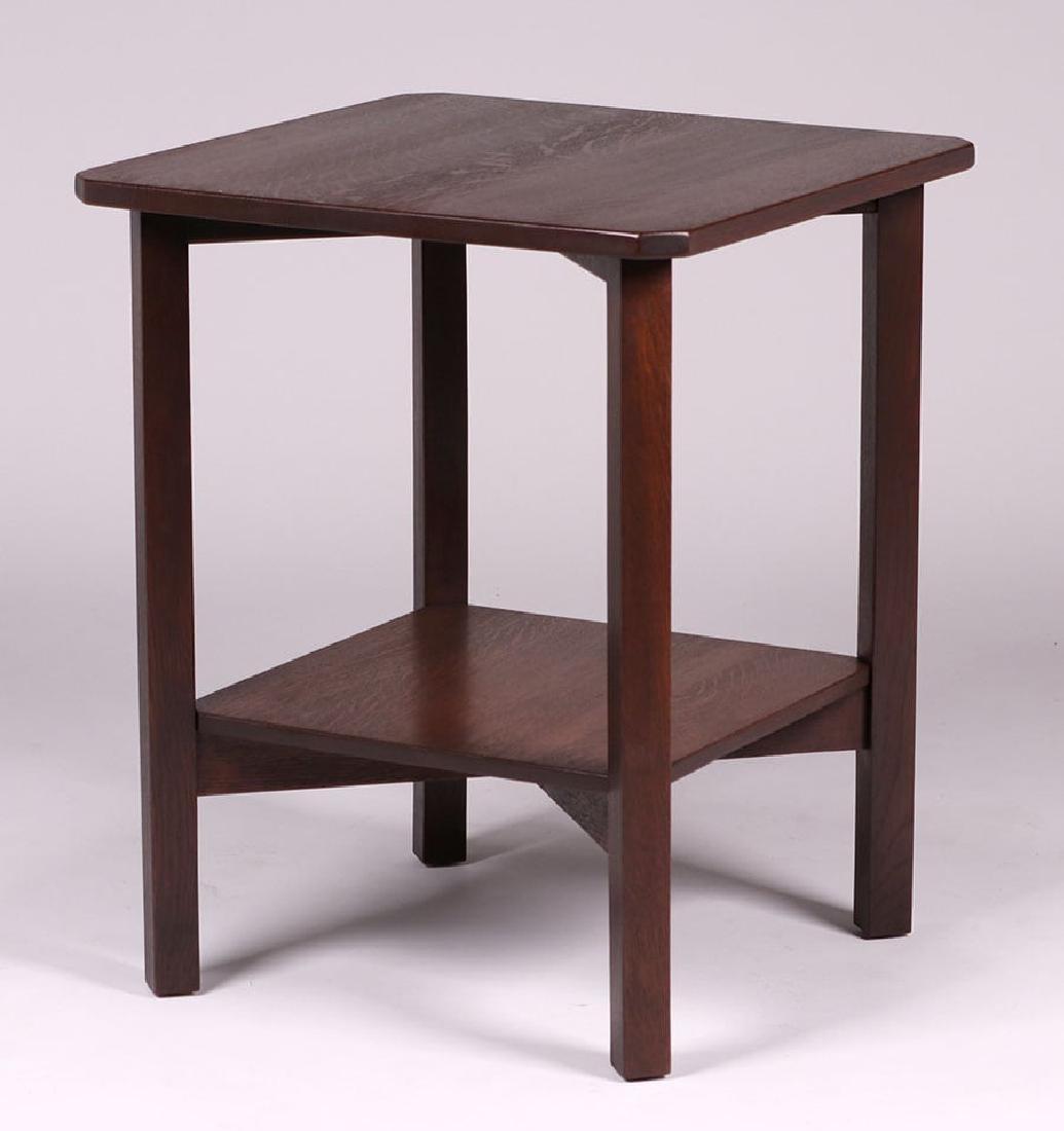 Gustav Stickley Clip-Corner Lamp Table c1910 - 2