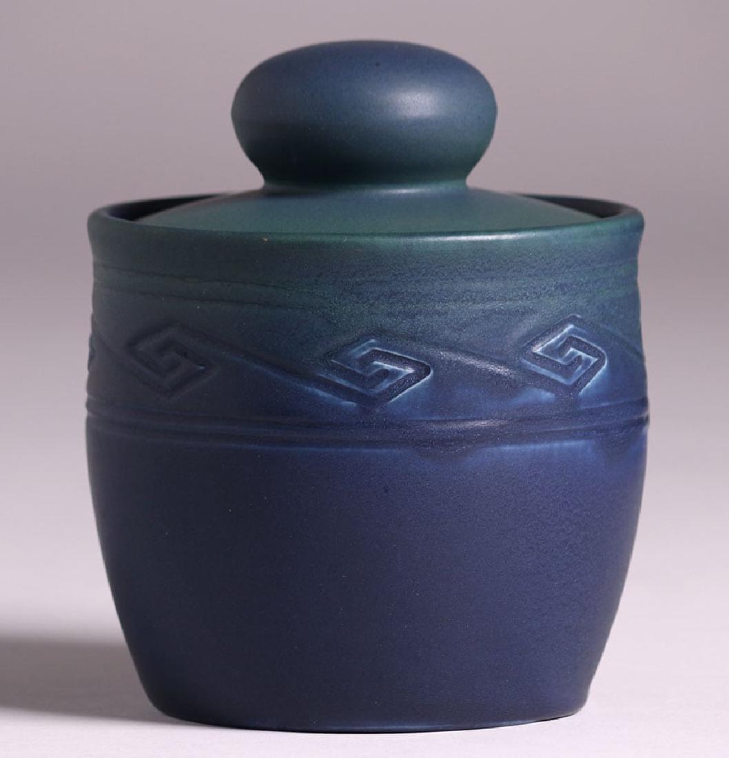 Rookwood Matte Blue Humidor 1906 - 2