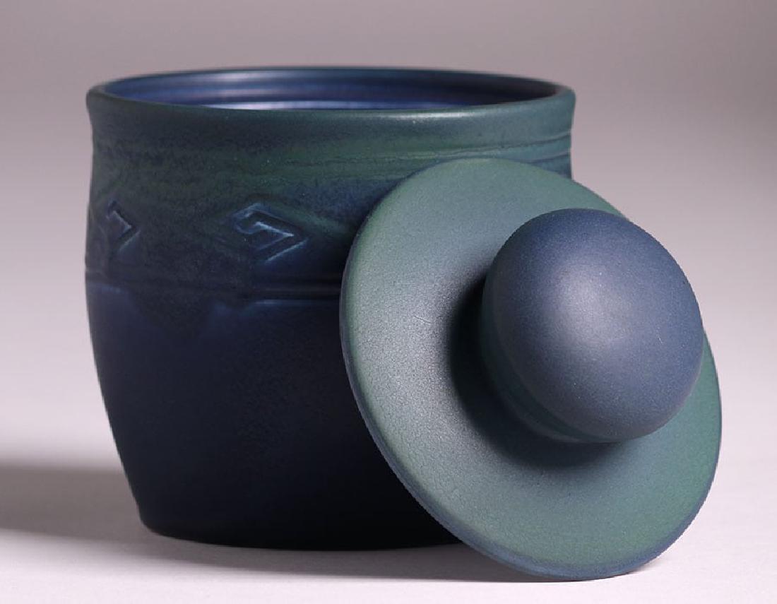 Rookwood Matte Blue Humidor 1906 - 3
